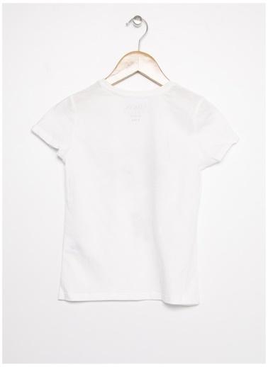 Limon Company Limon Kız Çocuk Bisiklet Yaka Zürafa Desen T-Shirt Beyaz